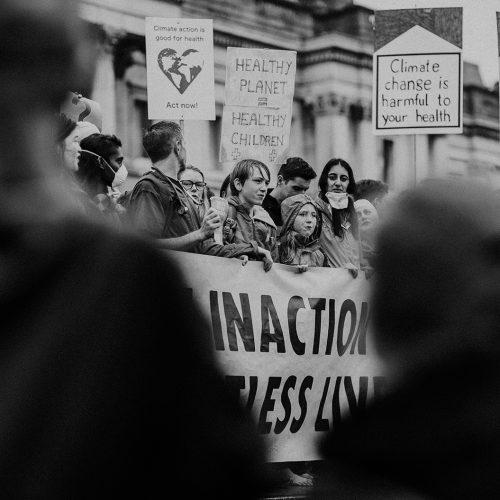 Protest für mehr Klimaschutz